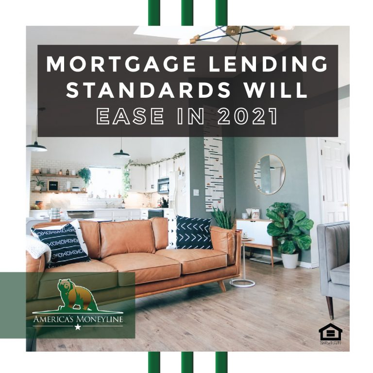 Mortgage Lending Standards will ease in 2021